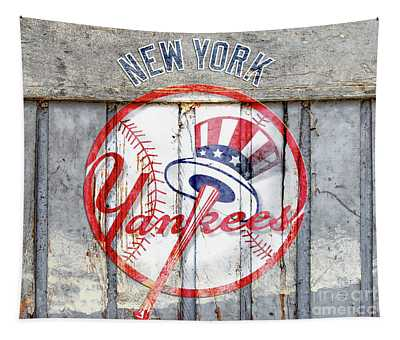 New York Yankees Top Hat Rustic Tapestry