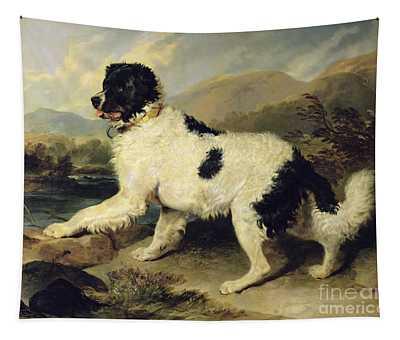 Newfoundland Dog Called Lion Tapestry