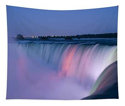 Niagara Falls At Dusk Tapestry