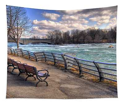 Niagara Rapids In Early Spring Tapestry