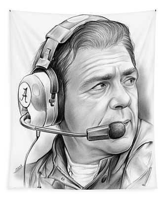 Nick Saban Tapestry