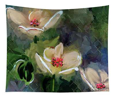 Night Blooming Dogwood Tapestry