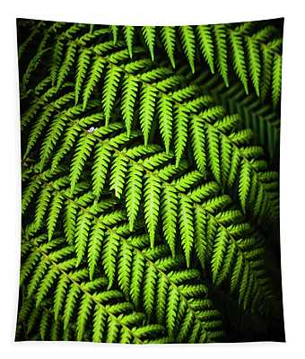 Night Forest Frond Tapestry