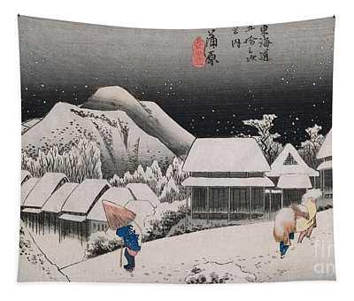 Night Snow Tapestry