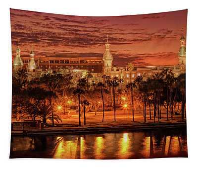 Nightfall In Tampa Tapestry