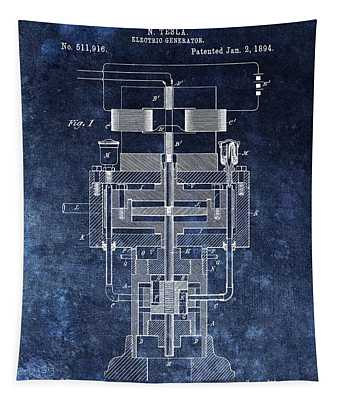 Nikola Tesla's Generator Patent Tapestry