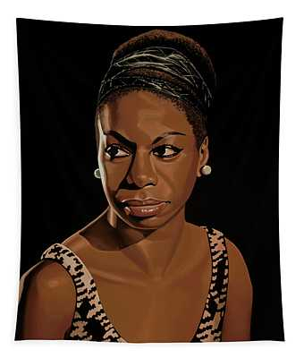 Nina Simone Painting 2 Tapestry