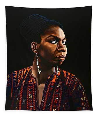 Nina Simone Painting Tapestry