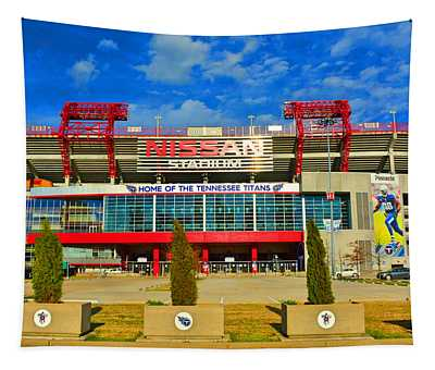 Nissan Stadium Home Of The Tennessee Titans Tapestry