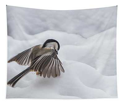 Chickadee - Wings At Work Tapestry