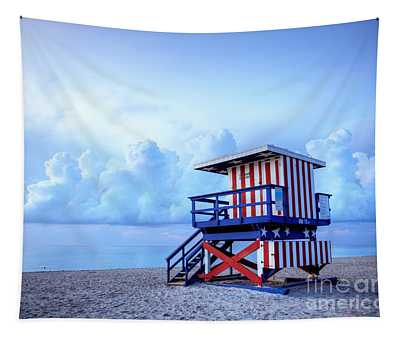 No Lifeguard On Duty Tapestry