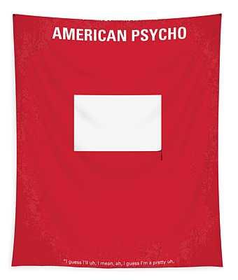 No005 My American Psyhco Minimal Movie Poster Tapestry