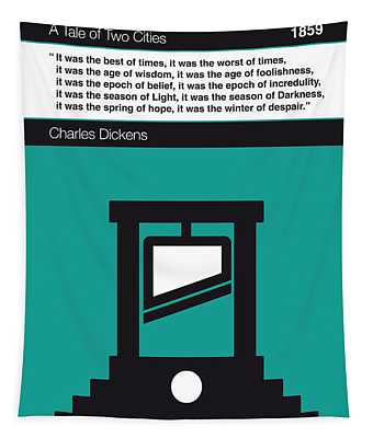 No009 My Tale Of Two Cities Book Icon Poster Tapestry
