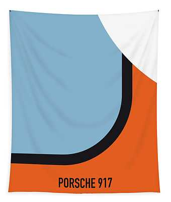 No016 My Le Mans Minimal Movie Car Poster Tapestry