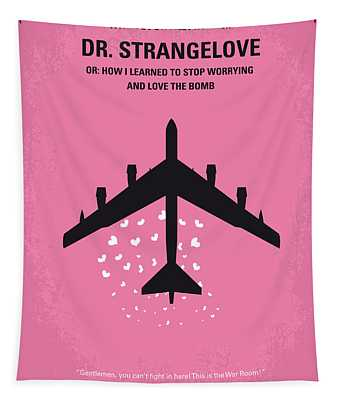 No025 My Dr Strangelove Minimal Movie Poster Tapestry