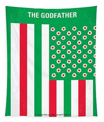 No028 My Godfather Minimal Movie Poster Tapestry