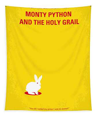 No036 My Monty Python And The Holy Grail Minimal Movie Poster Tapestry