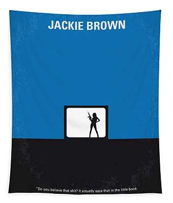 No044 My Jackie Brown Minimal Movie Poster Tapestry