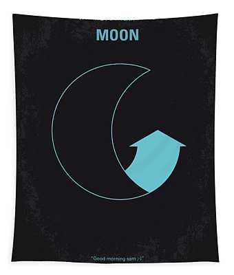 No053 My Moon 2009 Minimal Movie Poster Tapestry