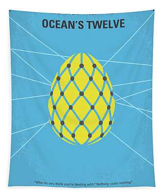 No057 My Oceans 12 Minimal Movie Poster Tapestry