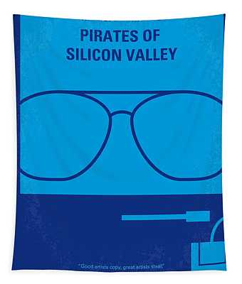 No064 My Pirates Of Silicon Valley Minimal Movie Poster Tapestry