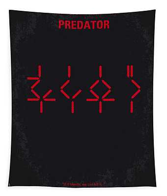 No066 My Predator Minimal Movie Poster Tapestry