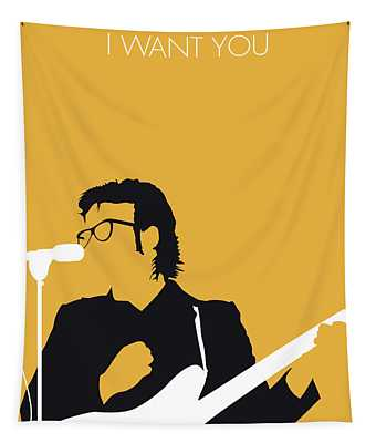 No067 My Elvis Costello Minimal Music Poster Tapestry