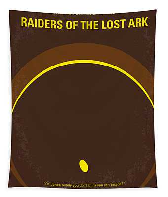 No068 My Raiders Of The Lost Ark Minimal Movie Poster Tapestry
