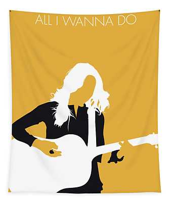 No074 My Sheryl Crow Minimal Music Poster Tapestry