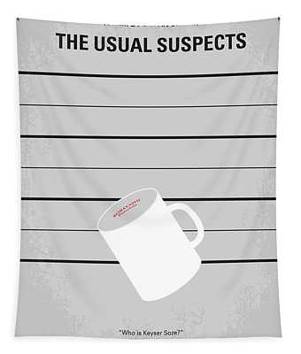 No095 My The Usual Suspects Minimal Movie Poster Tapestry