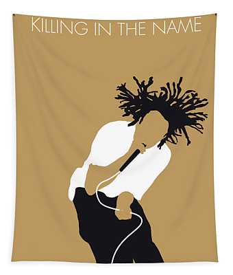 No100 My Rage Against The Machine Minimal Music Poster Tapestry