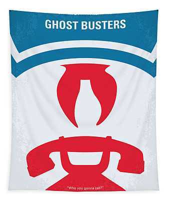No104 My Ghostbusters Minimal Movie Poster Tapestry