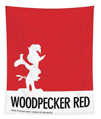 No12 My Minimal Color Code Poster Woody Woodpecker Tapestry