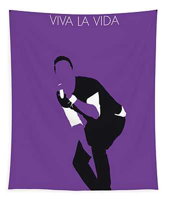 No121 My Coldplay Minimal Music Poster Tapestry