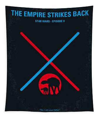 No155 My Star Wars Episode V The Empire Strikes Back Minimal Movie Poster Tapestry