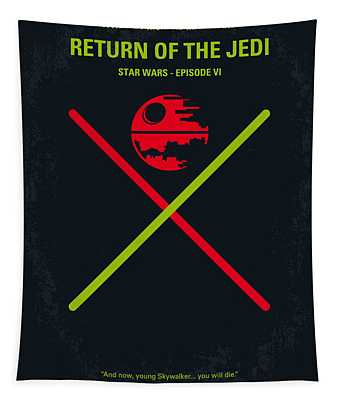 No156 My Star Wars Episode Vi Return Of The Jedi Minimal Movie Poster Tapestry