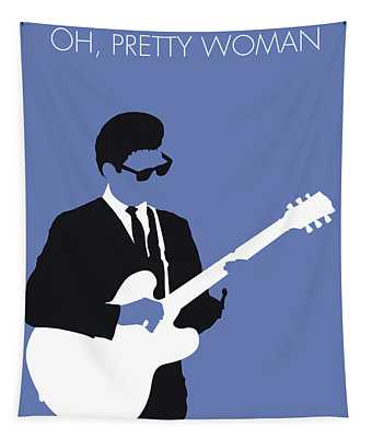 No158 My Roy Orbison Minimal Music Poster Tapestry