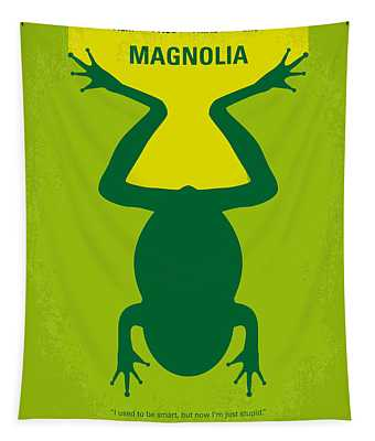 No159 My Magnolia Minimal Movie Poster Tapestry