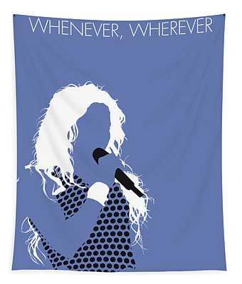 No168 My Shakira Minimal Music Poster Tapestry