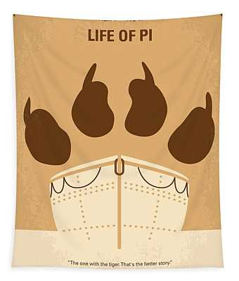No173 My Life Of Pi Minimal Movie Poster Tapestry