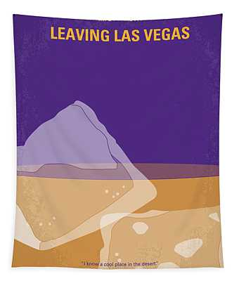 No180 My Leaving Las Vegas Minimal Movie Poster Tapestry