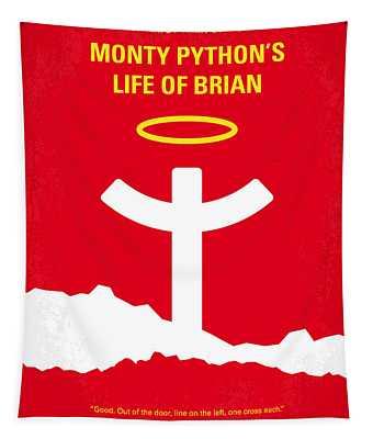 No182 My Monty Python Life Of Brian Minimal Movie Poster Tapestry