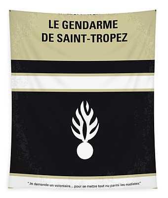 No186 My Le Gendarme De Saint-tropez Minimal Movie Poster Tapestry