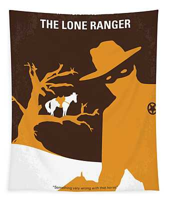 No202 My The Lone Ranger Minimal Movie Poster Tapestry