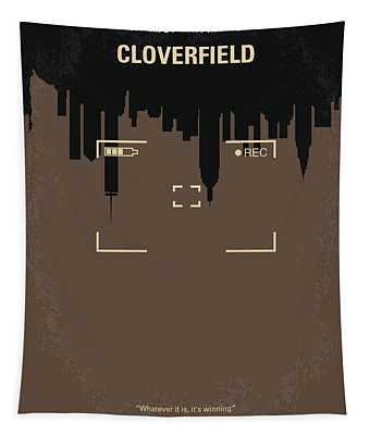 No203 My Cloverfield Minimal Movie Poster Tapestry