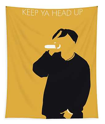 No204 My 2pac Minimal Music Poster Tapestry