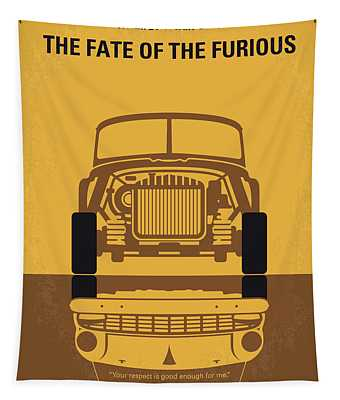 No207-8 My The Fate Of The Furious Minimal Movie Poster Tapestry