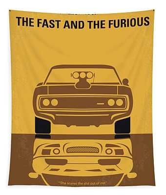 No207 My The Fast And The Furious Minimal Movie Poster Tapestry
