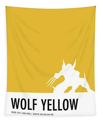 No21 My Minimal Color Code Poster Wolverine Tapestry