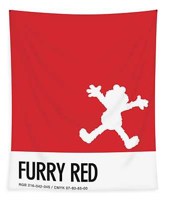 No30 My Minimal Color Code Poster Elmo Tapestry
